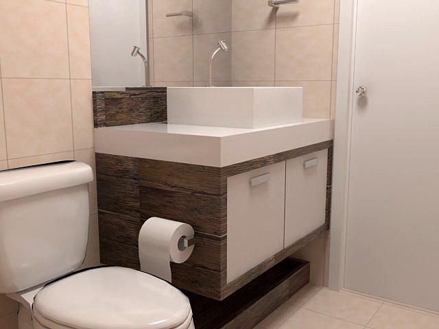 Armários para Banheiros Pequenos -> Armario De Banheiro Planejado Pequeno
