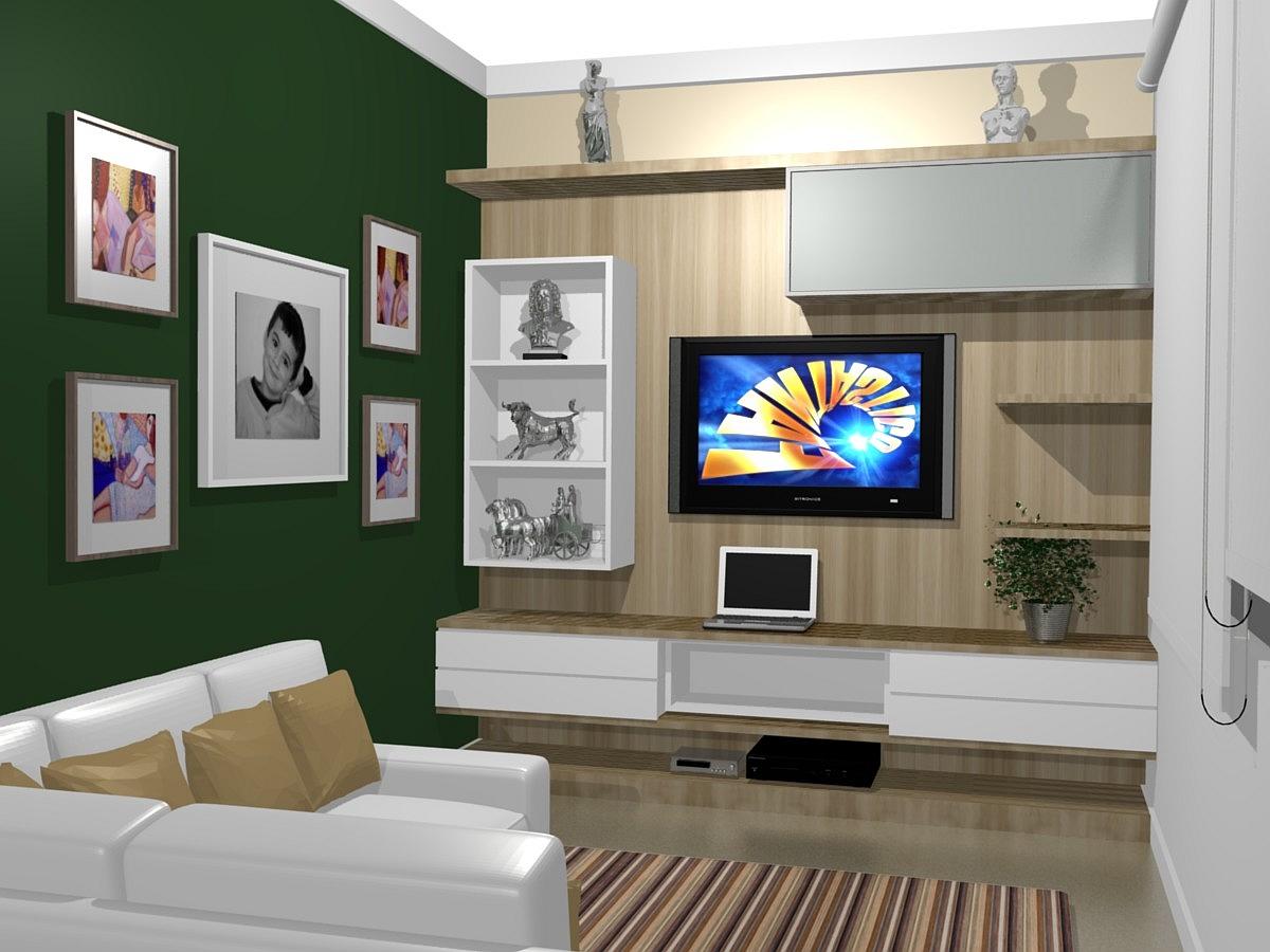#1B54B0 painel para tv lcd sala pequenaIdéias de decoração para casa 1200x900 píxeis em Decoração De Sala Para Tv
