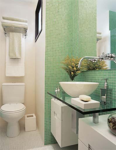 DECORAÇÃO BANHEIRO -> Banheiro Decorado Com Pouco Dinheiro