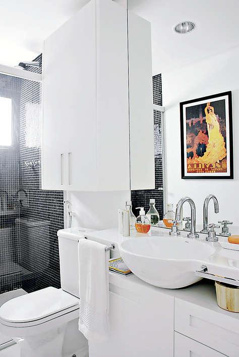 Como decorar um banheiro pequeno -> Banheiros Pequenos Simples E Decorados