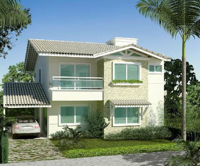 Fachadas de casas simples bonitas e pequenas tattoo for Casas bonitas modernas