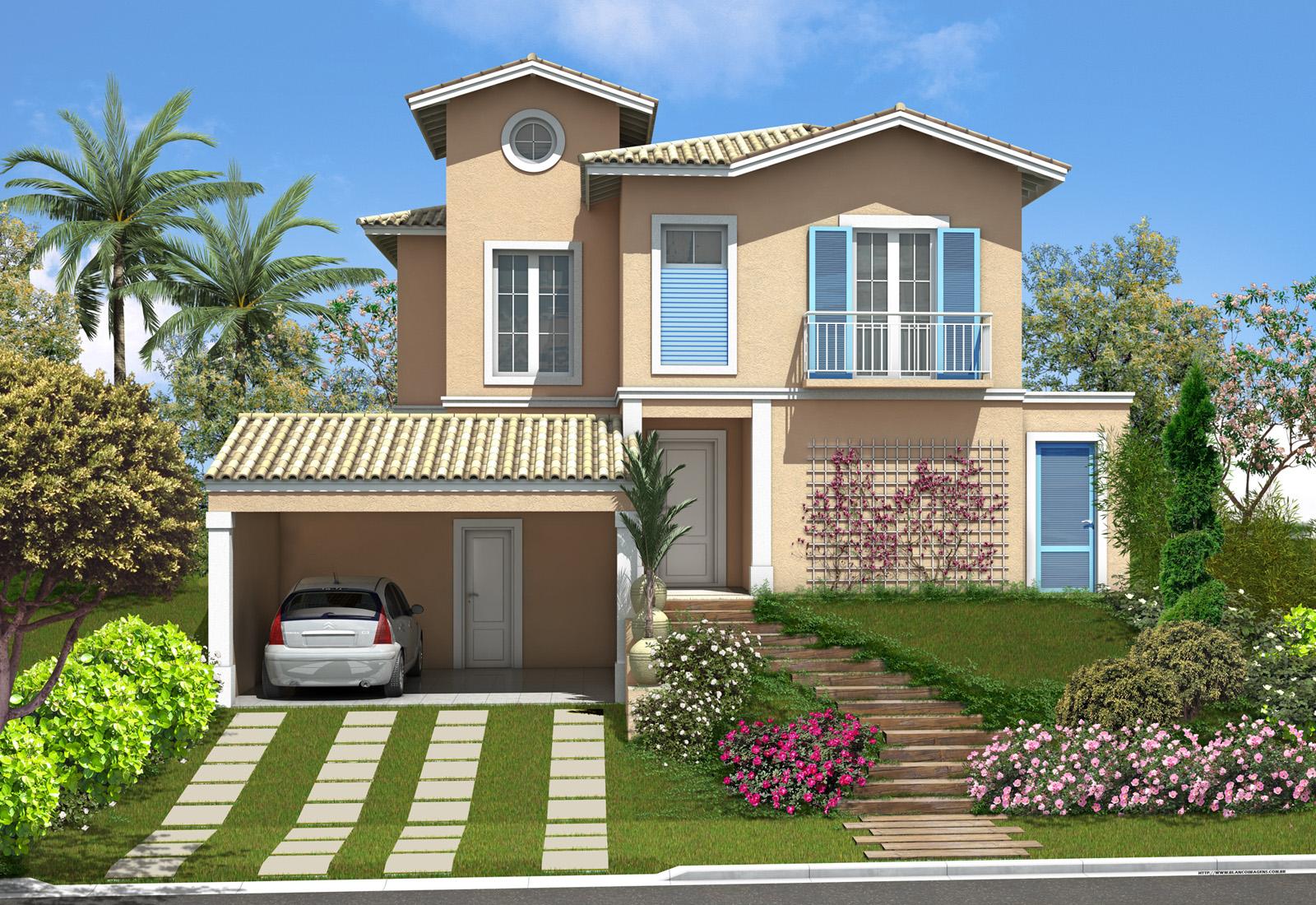 Fachadas Fachadas para casas de dos plantas
