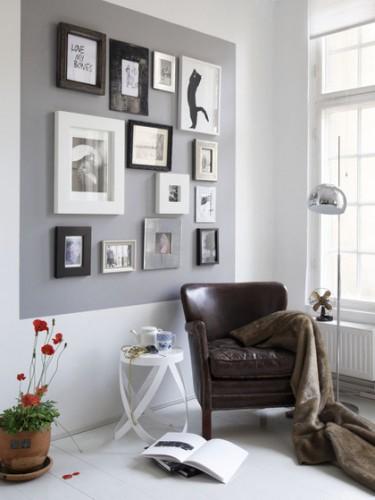 Como montar um canto de leitura for Decorar paredes con cuadros y espejos